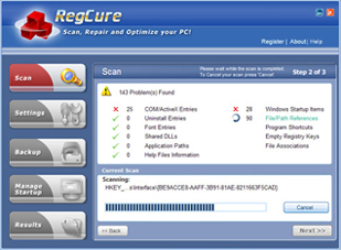 RegCure PC Optimizer